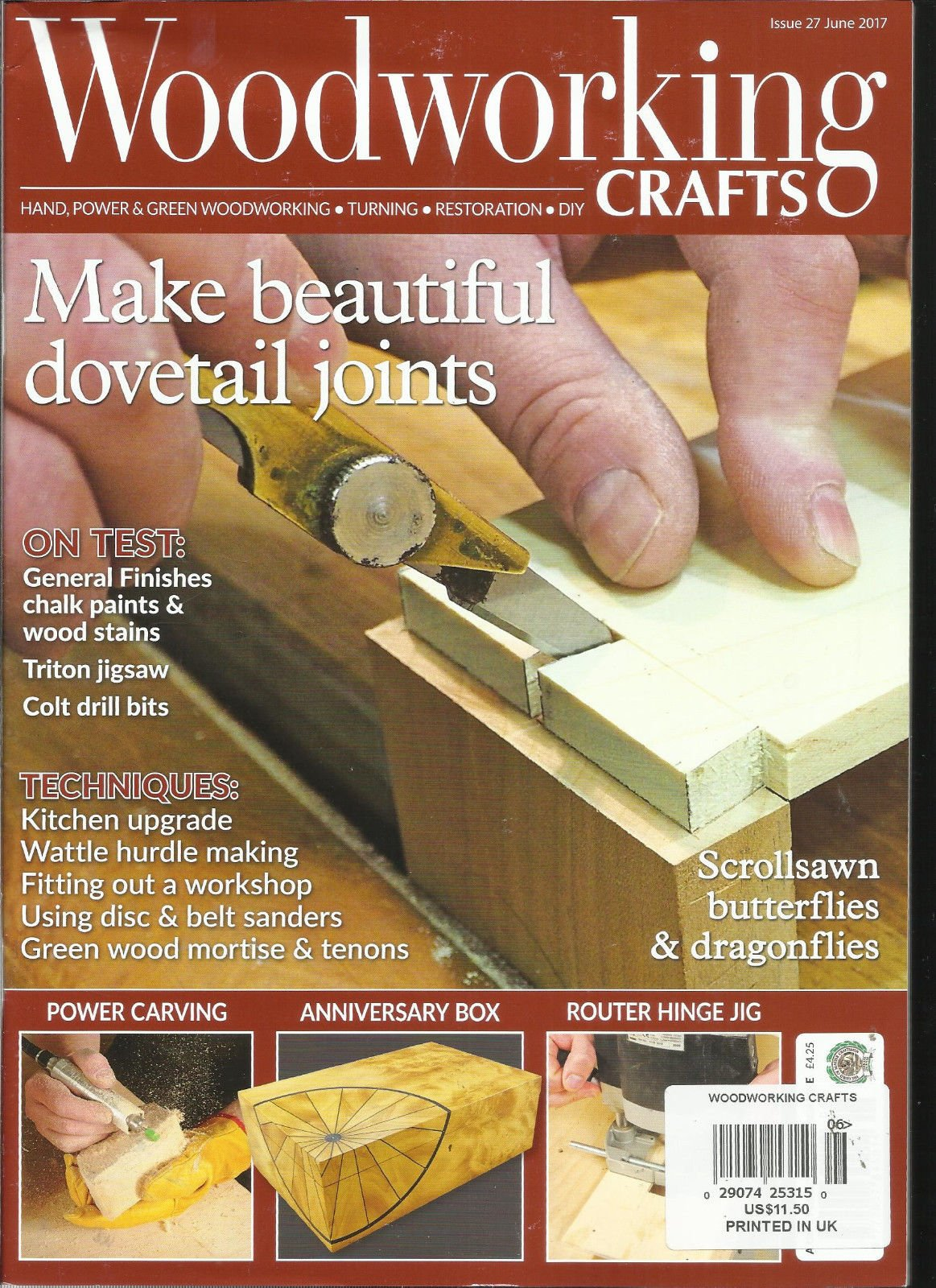 WOOD WORKING CRAFTS MAGAZINE, HAND POWER & GREEN WOODWORKING JUNE, 2017# 27