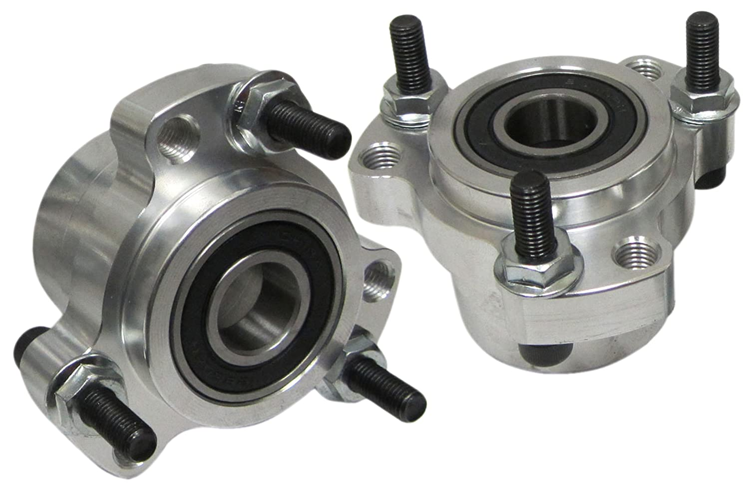 Set of 2 - Clear Lightened Aluminum Front Wheel Hubs Go Kart Racing Drift Trike BMI Karts