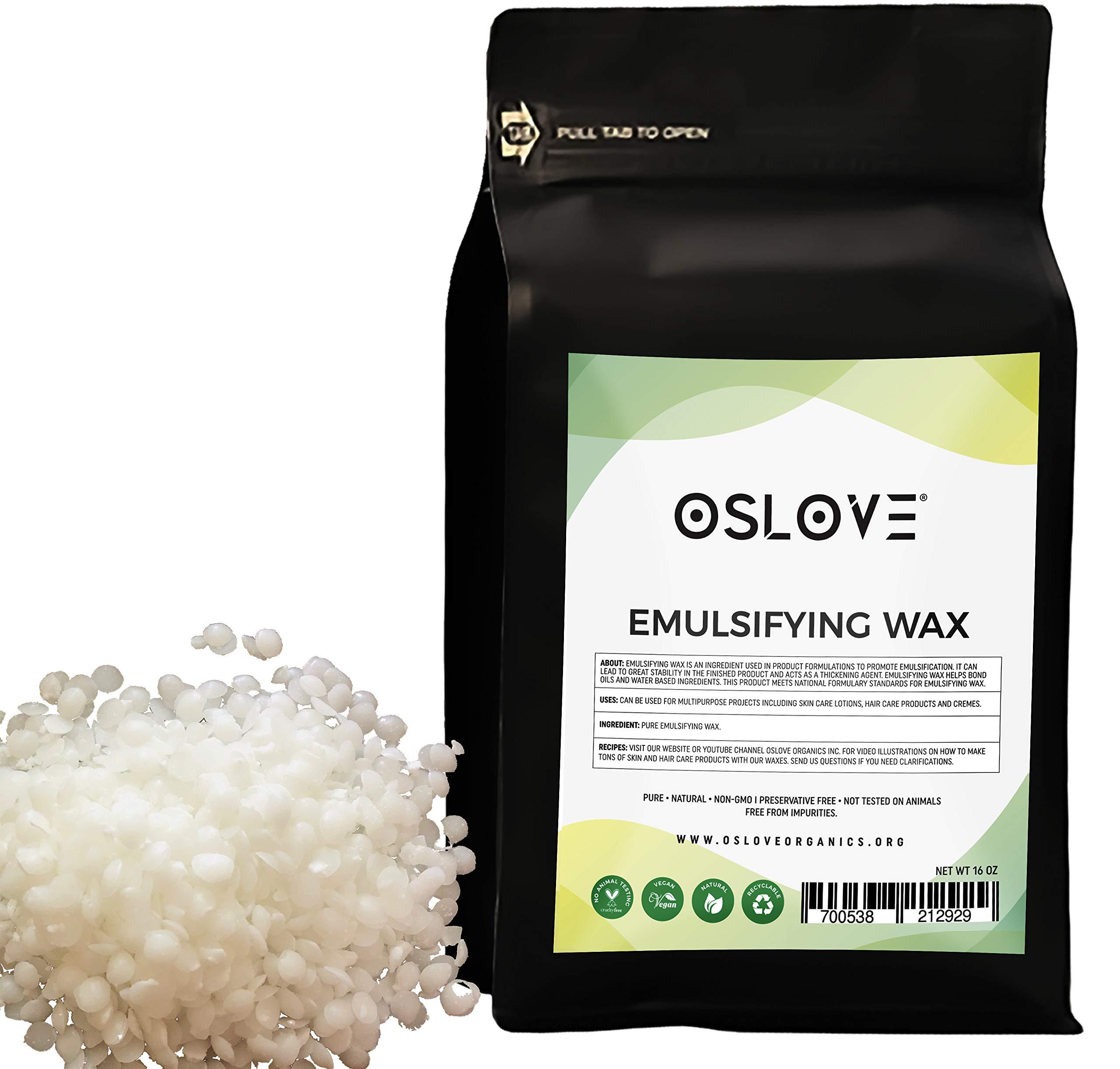 Emulsifying Wax NF Vegetable Base 1LB by Oslove Organics
