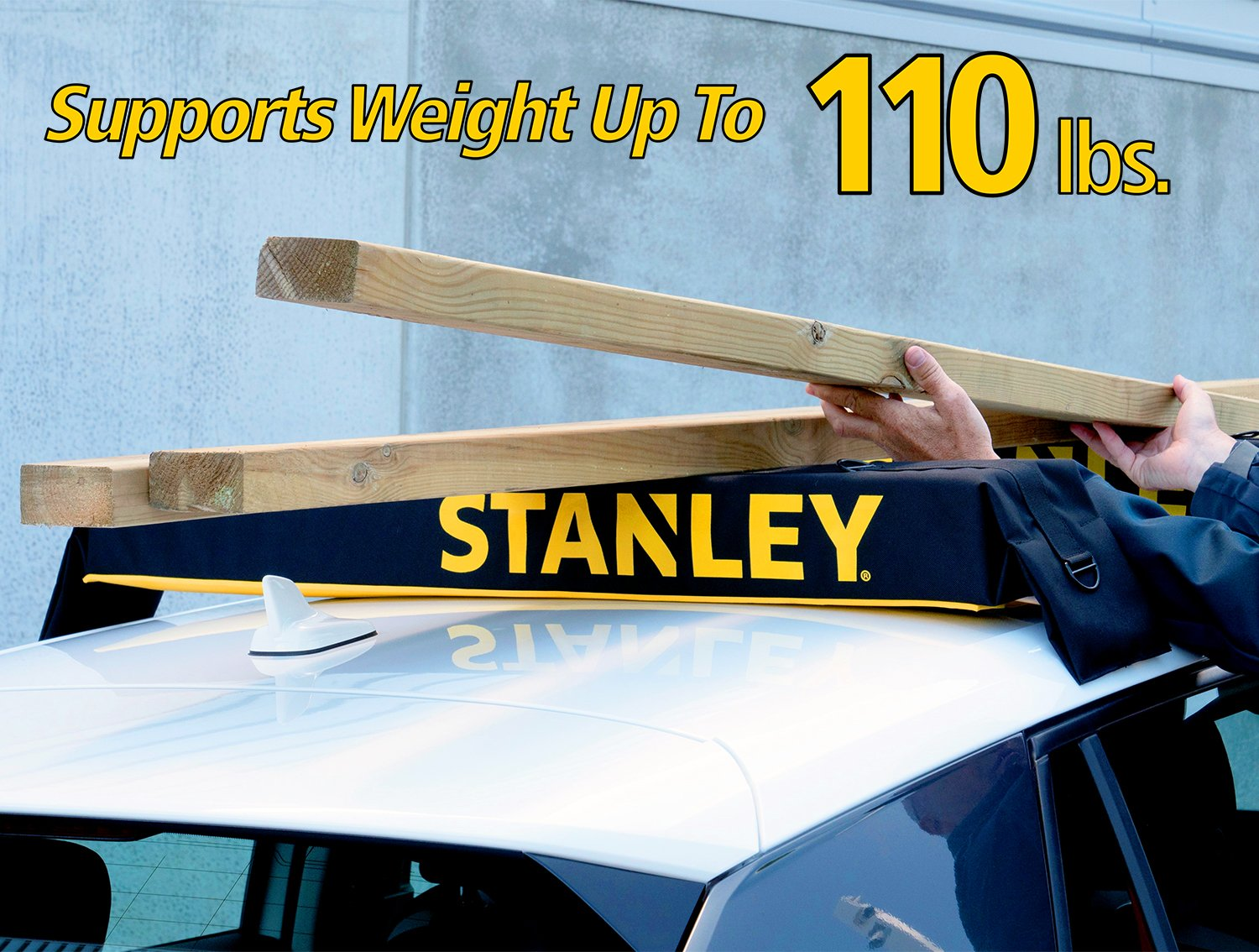 Stanley Universal Car Roof Rack Pad /& Luggage Carrier System Anti Vibration Great for Transporting Kayak SUP Surfboard Lumber /& Other Long Items Includes 2 Heavy Duty Tie Down Straps