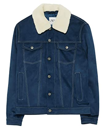 6c04960890e Zara Men Contrast Denim Jacket 0706 428 at Amazon Men s Clothing store