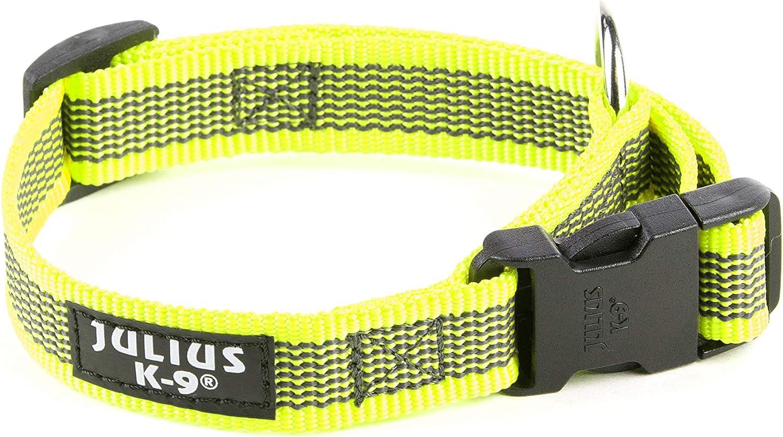 Julius-K9 Collar Color /& Gray 20 mm 27-42 cm Ne/ón-Gris