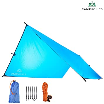 Waterproof C&ing Fly Tent Tarp - Large Rain Fly Tarp Shelter Sunshade Picnic  sc 1 st  Amazon.com & Amazon.com : Waterproof Camping Fly Tent Tarp - Large Rain Fly ...