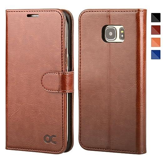 135 opinioni per OCASE Cover Samsung Galaxy S7 Edge [Portafoglio] Custodia di Pelle Case Flip