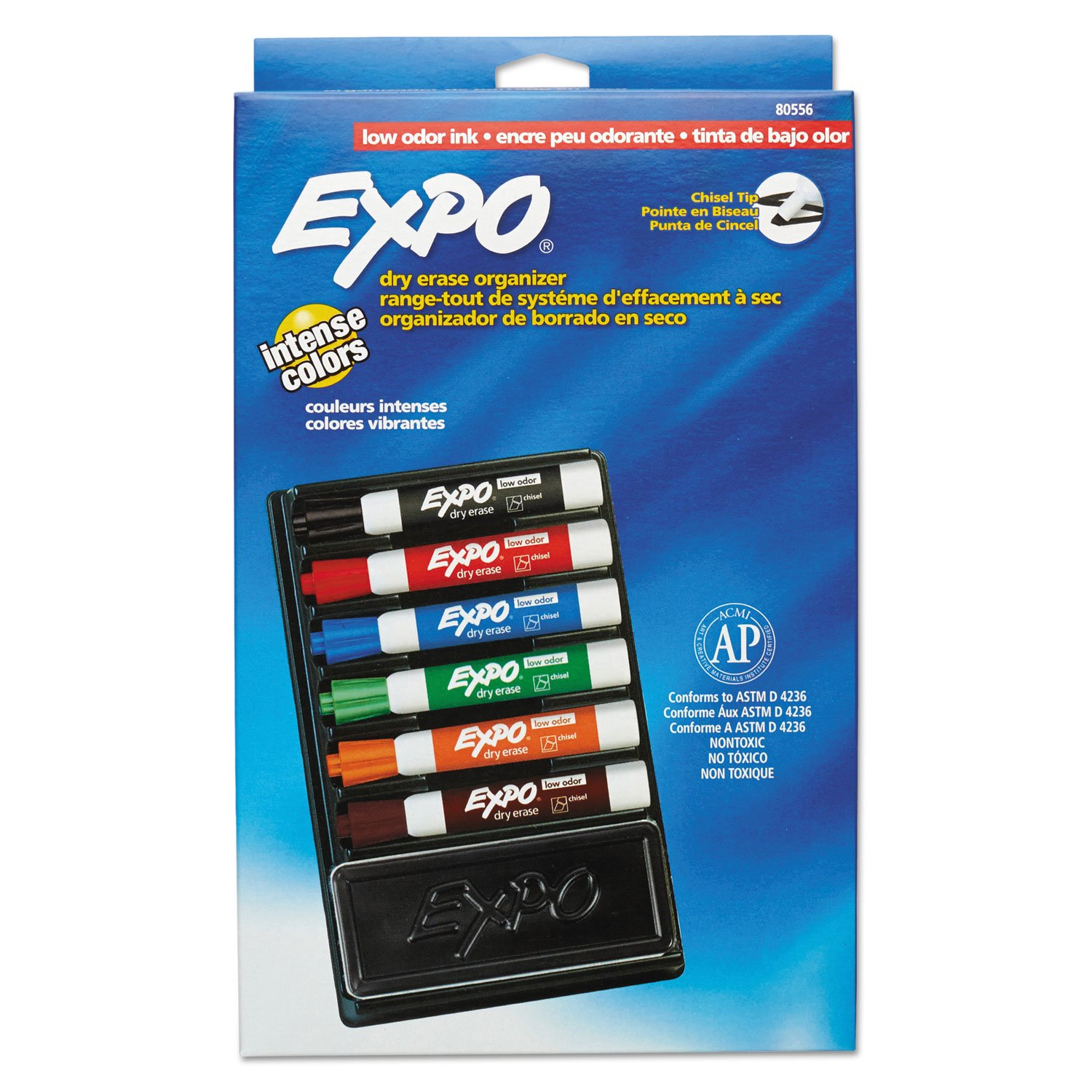 Amazon.com: EXPO 80556 Dry Erase Marker & Organizer Kit Chisel Tip Assorted 6/Set: Office Products