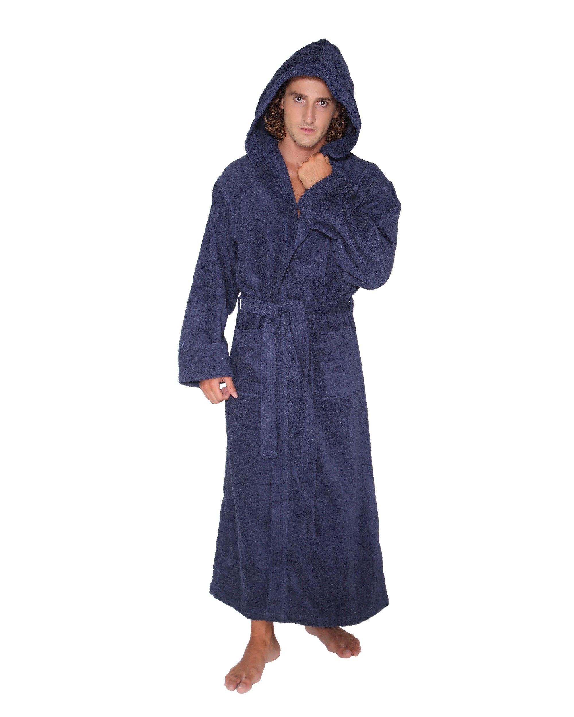 Arus - Albornoz con capucha Pacific para hombre y mujer, 100% algodón, peso