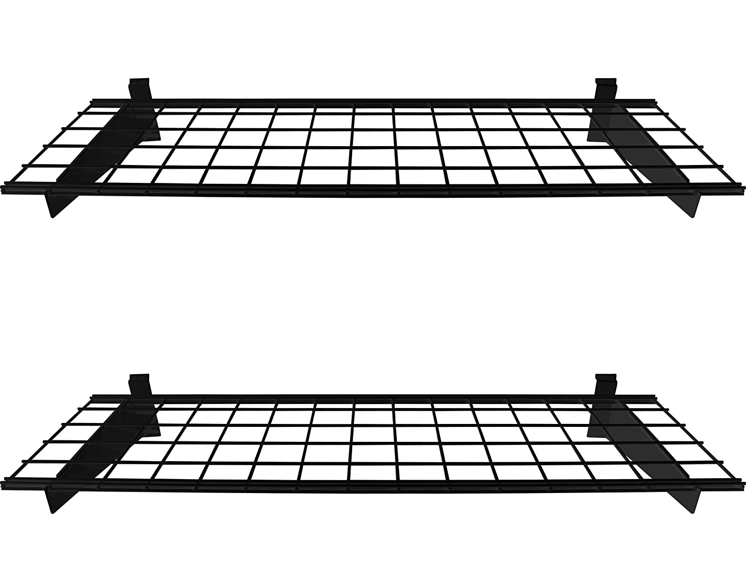HyLoft 00291 Slat Wall Shelf, 2-Pack, Black (Wall Only), 45x15 45x15 Knape & Vogt