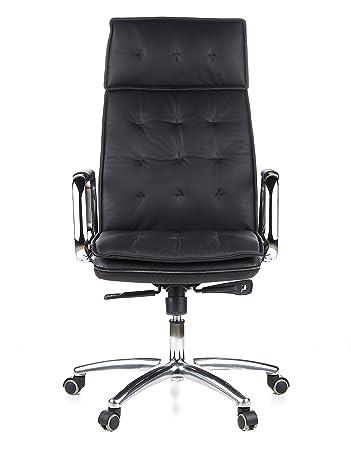 Hjh Office 600920 Chefsessel Burostuhl Villa 20 Nappa Leder Schwarz