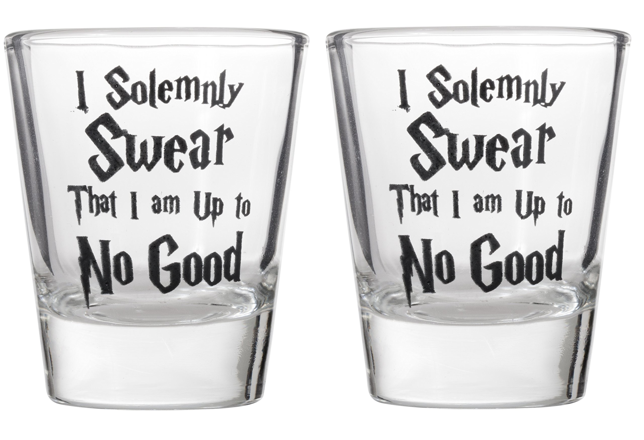 I Solemnly Swear That I Am Up To No Good Shot Glass Shotglasses (2)