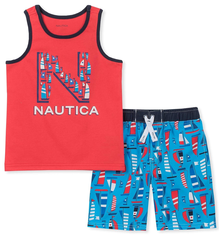 Nautica Boys 2 Pieces Tank Top with Swim Shorts Set