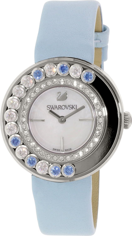 Swarovski women 39 s 1187024 lovely crystal blue leather watch ebay for Swarovski crystals watch