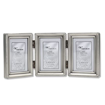 Amazon Lawrence Frames Antique Pewter Hinged Triple 2x3