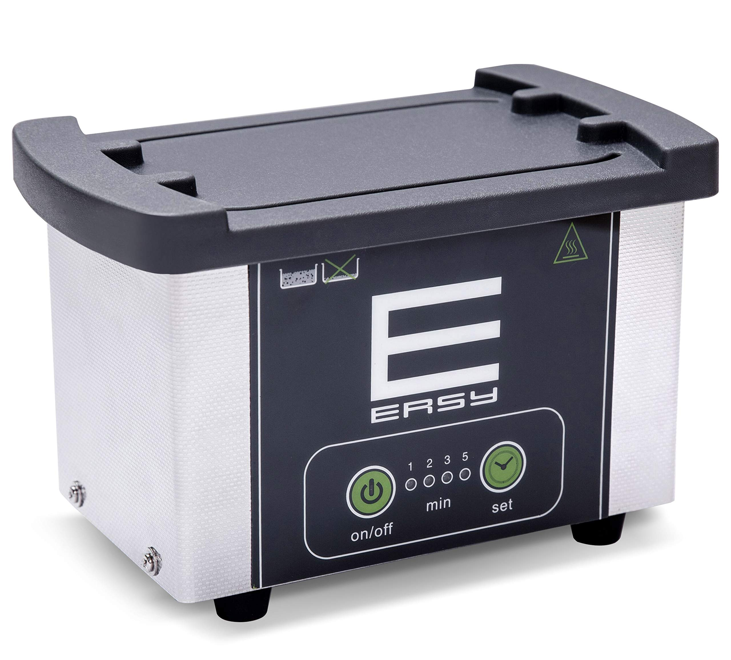 Ultrasonic Jewelry Cleaner, Compact Professional Ultrasonic Jewelry Cleaner 23 Ounces(700ML) with Four Timer, for Eyeglasses Coins Tools Razors Jewelry Earrings Necklaces Dentures by EERSY