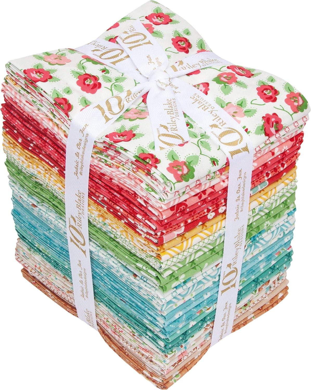 100/% COTTON 5 Fat Quarter Little Cake Shop Bundle 20 x 22 Inches