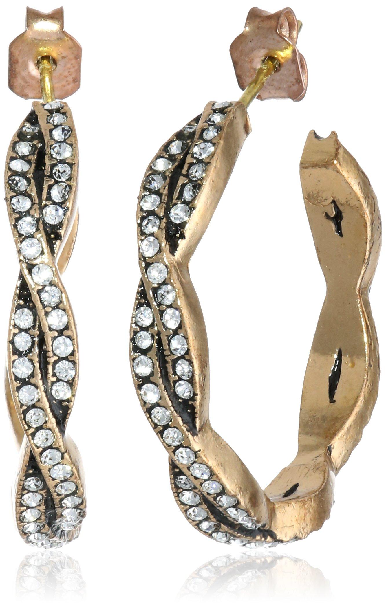 Azaara''Crystal'' Petite Woven Hoop Earrings