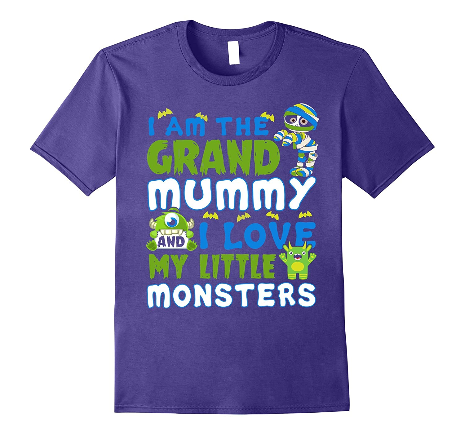 I Am The Grand Mummy And I Love My Little Monster T-shirt-FL