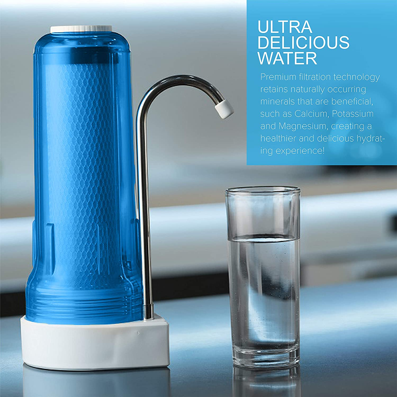 Ecosoft FMV1BOBWEXP Countertop Water Filter provides ultra delicious water