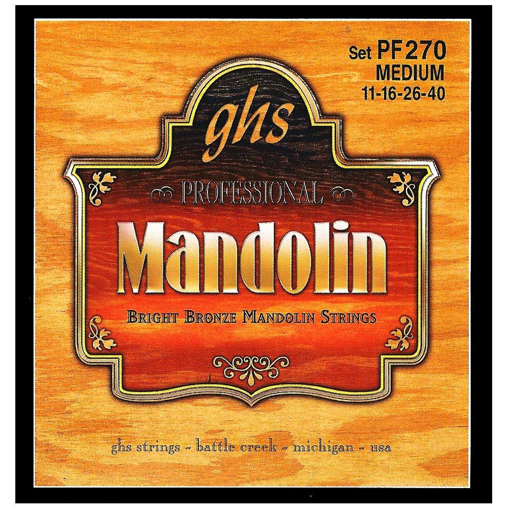 GHS Strings Mandolin Set (Medium Bright Bronze) PF270