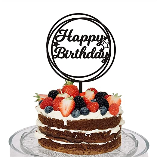 Fantastic Amazon Com Happy Birthday Cake Topper Birthday Decorations Cake Birthday Cards Printable Riciscafe Filternl