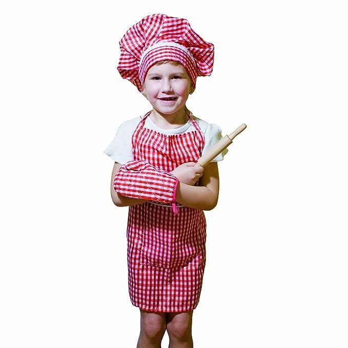 Bino 83387 - Disfraz para niños de cocinero (4 piezas): Amazon.es ...