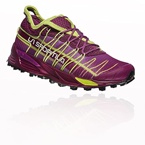 La Sportiva Mutant Woman, Scarpe da Trail Running Unisex – Adulto, Multicolore (Prugna/Verde Mela 000), 38 EU