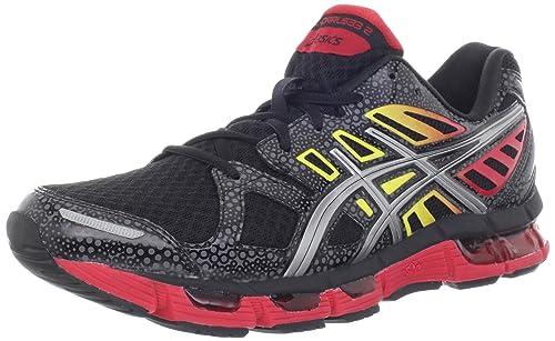 Asics Gel-Cirrus33 2 Fibra sintética Zapato para Correr, Black/Lightning/Fire, 42: Amazon.es: Zapatos y complementos