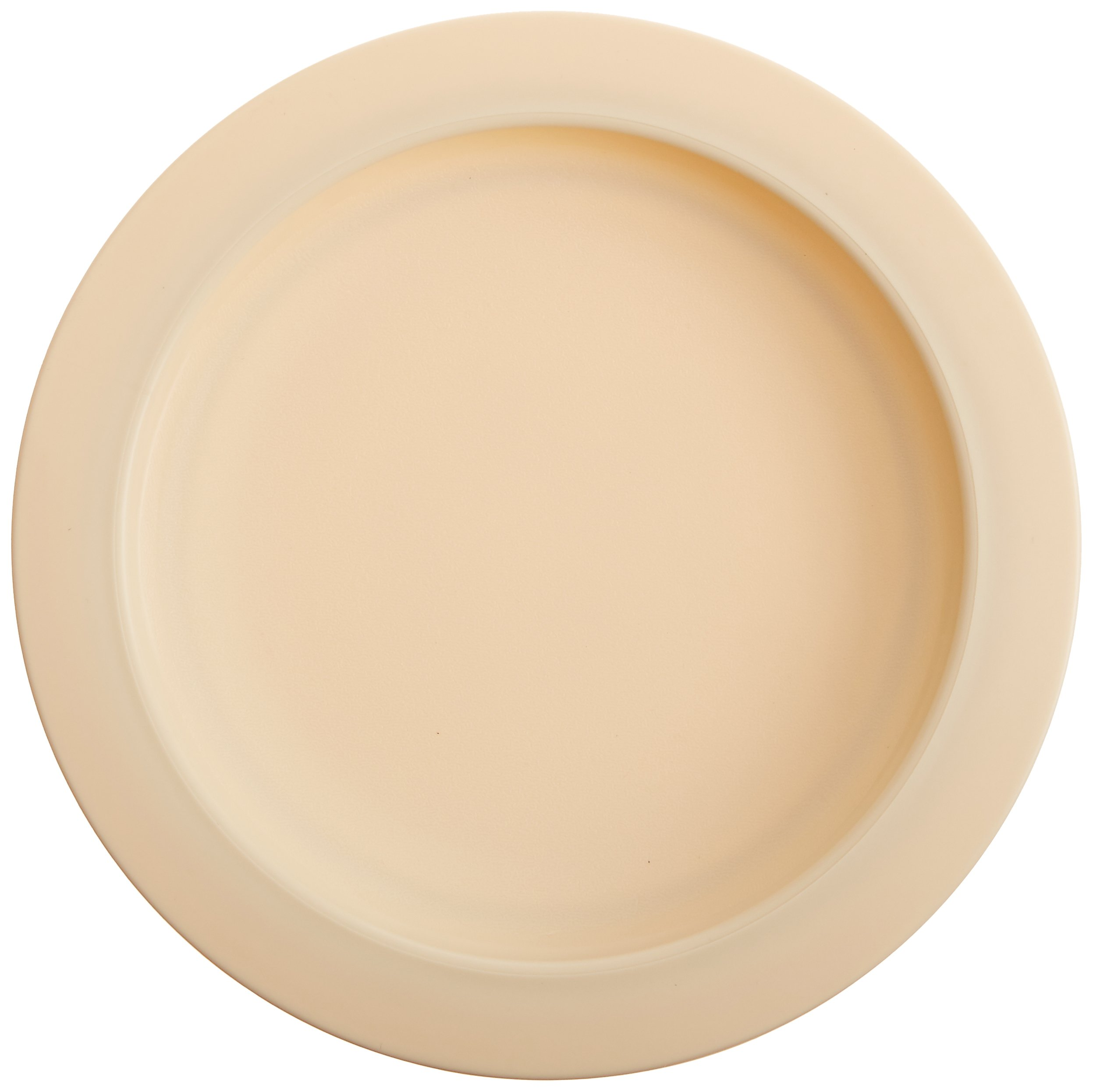Sammons Preston Plate with Inside Edge, 9'' Plate with Food Spill Prevention Aid, Durable Plates with Inner Lip, Eating Support for Children, Adults, Elderly and Disabled, Polypropylene, Off-White