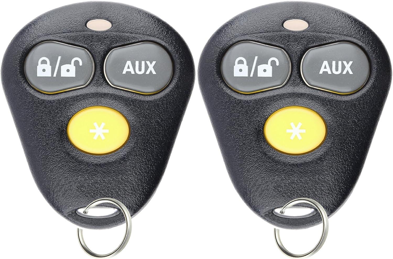 KeylessOption Keyless Entry Remote Starter Car Key Fob Alarm For Aftermarket Viper Automate EZSDEI474V 473V Pack of 2