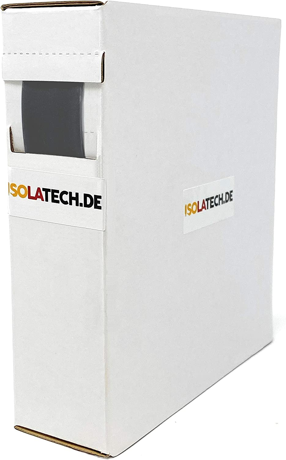 Mini Box 3:1 Adhesive Lined Black 3,2mm 10m Heat Shrink Tube Roll in a Practical Dispenser Box by ISOLATECH