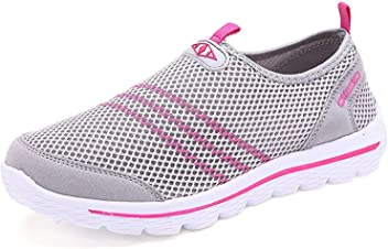 Also Easy Exquisite Womens Quick Drying Aqua Water Shoes Grey7.5 B(M)