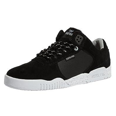 Supra Men's Ellington Shoes,Size 7,Black/Lt Grey-White