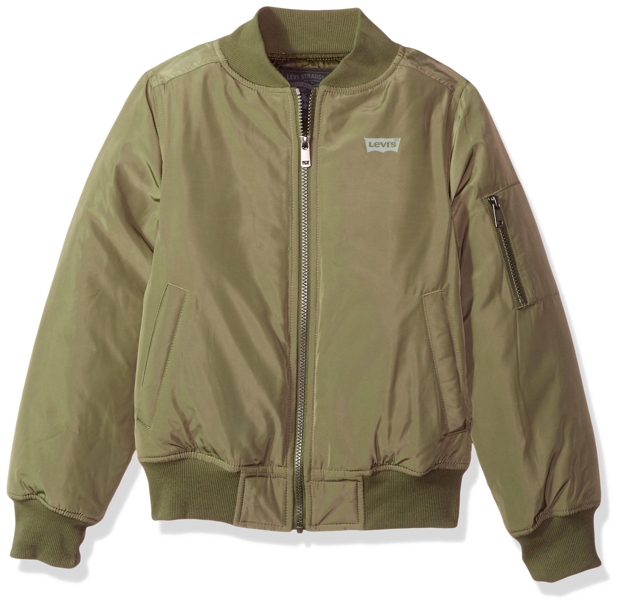 Levi's Boys' Big Bomber Jacket, Light Olivine, XL