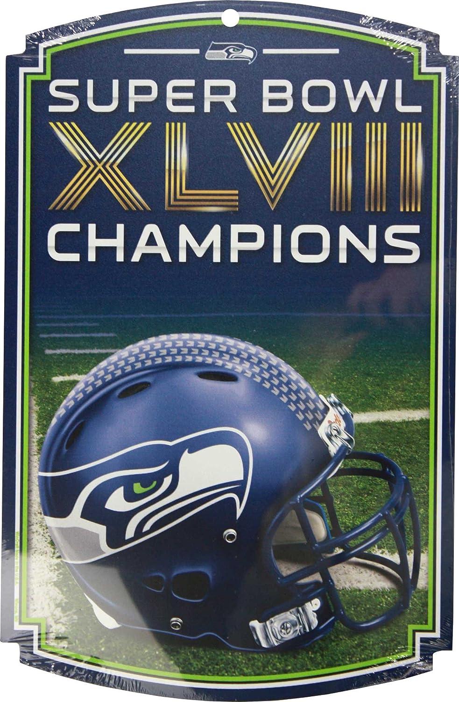 Wincraft NFL Seattle Seahawks Holzschild Champions Weihnachtsgeschenke