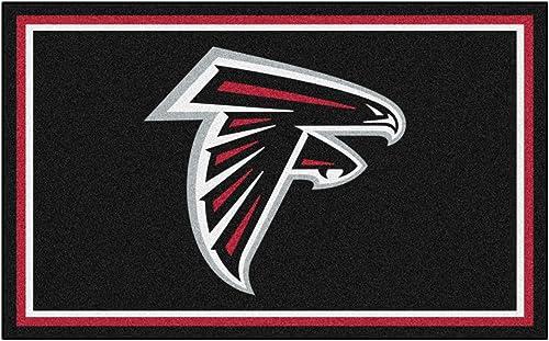 FANMATS NFL Atlanta Falcons Nylon Face 4X6 Plush Rug