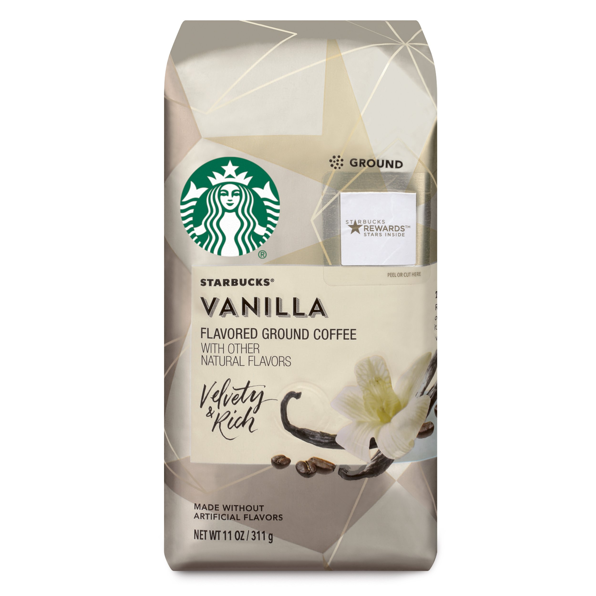 Starbucks Vanilla Flavored Ground Coffee, 11-Ounce Bag (Pack Of 6) by Starbucks