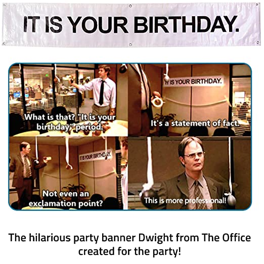 Amazoncom It Is Your Birthday Banner The Office Vinyl Party