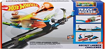Hot Wheels FLK60 Track Builder Rocket Challenge, Connectable Track Set with Diecast and Mini Toy Car