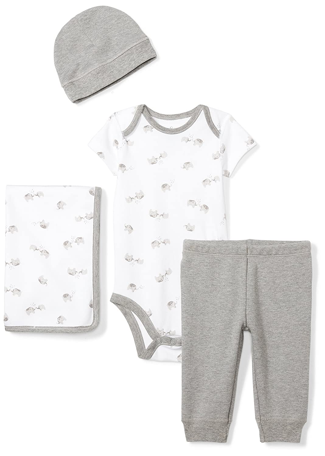 Moon and Back Unisex-Baby Infant 4-Piece Organic Gift Set GFT5-4PC-PDAYSET