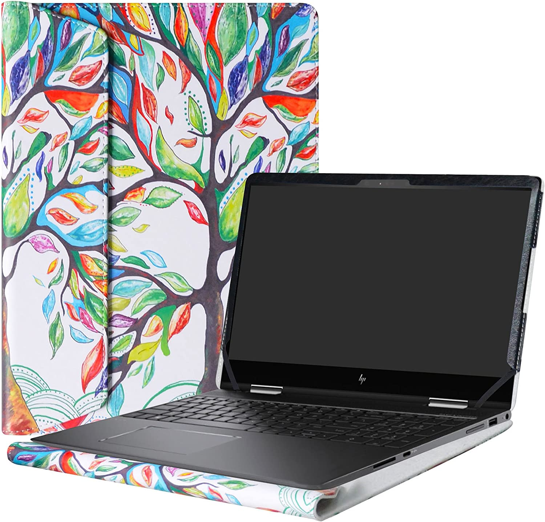 "Alapmk Protective Case Cover for 15.6"" HP Envy x360 15 15-bpXXX 15m-bpXXX (Such as 15M-BP012DX)/15m-bqXXX 15-bqXXX (Such as 15m-bq021DX) Laptop[Not fit 15-cnXXX/15-wXXX/15-aqXXX Series],Love Tree"