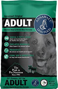 Annamaet Original Adult Formula Dry Dog Food, 23% Protein (Chicken & Brown Rice)