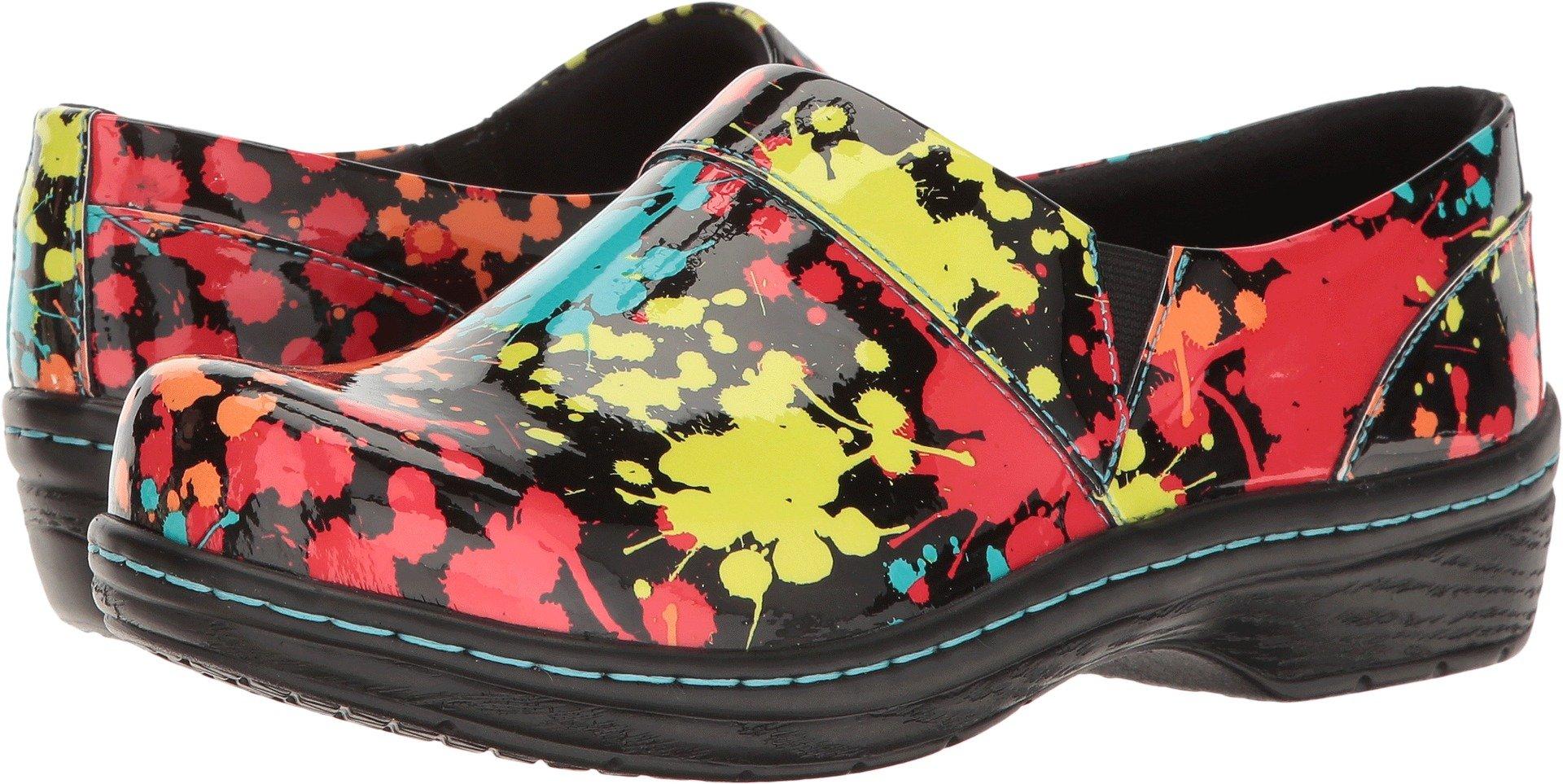 Klogs Footwear Women's Mission Arch Support, Splatter Patent, 7 M US