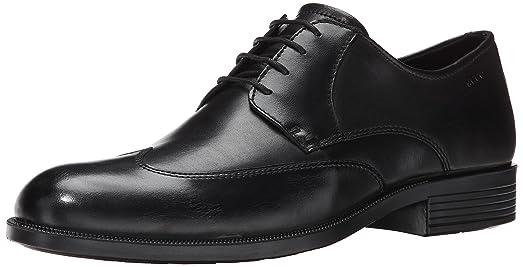 311454013035, Zapatos de Cordones Derby para Hombre, Negro (Black/Grey), 42 EU Bugatti
