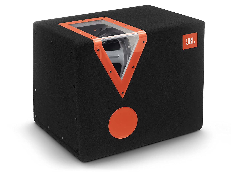 JBL Car CSX-1400BP 12 Zoll (300mm) Auto-Stereoanlage Bandpass Subwoofer mit Acryl-Fenster - Schwarz/Orange Harman Kardon Deutschland