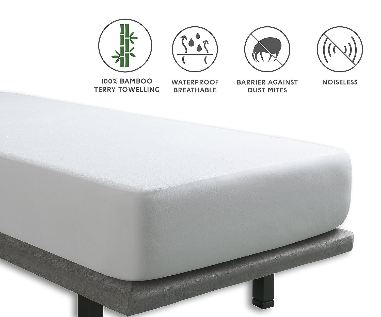 Tural - Protector de colchón Impermeable y Transpirable. Rizo 100% Bambú. Talla de Cuna 60x120cm: Amazon.es: Hogar