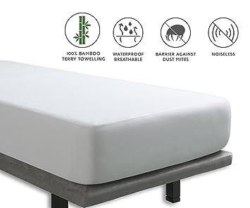 Tural - Protector de colchón Impermeable y Transpirable. Rizo 100% Bambú. Talla 90x200cm: Amazon.es: Hogar