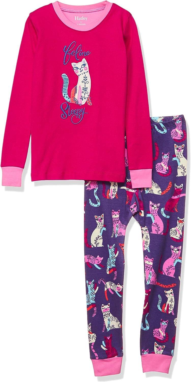 Hatley Girls Organic Cotton Long Sleeve Appliqu/é Pajama Sets Pajama Set