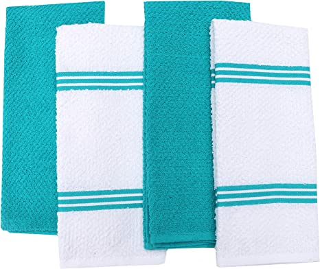 Dish Kitchen Towels 100/% Cotton Dish Cloths 4 dishtowels set for everyday use