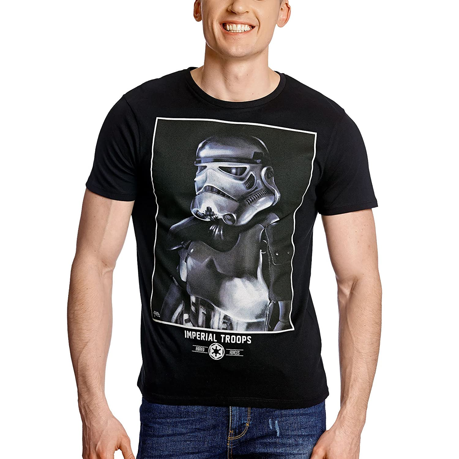 Star Wars Herren T-Shirt Imperial Trooper Negro algodón: Amazon.es ...