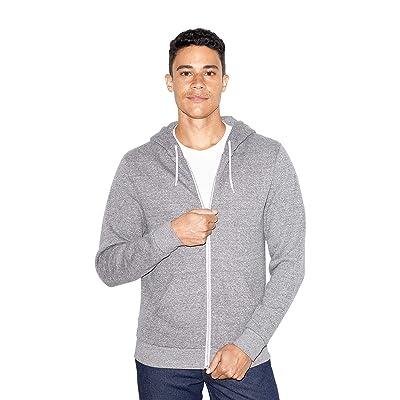 American Apparel unisex-adult Peppered Fleece Long Sleeve Zip Hoodie at Men's Clothing store