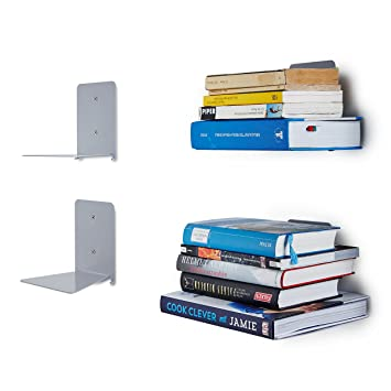Bücherregale Metall lumaland unsichtbares bücherregal metall 4er set amazon de küche